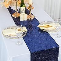 """Chemin de table - Chemin de table à paillettes Bleu Chemin de table à manger 12 """"x 72"""" Décor à la maison Chemins de…"""