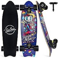 BELEEV Cruiser Skateboard 27x8 inch Completo Skateboard per Bambini, Giovani e Adulti, 7 Strati di Acero Canadese Double…