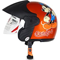 ACTIVE CANDY-2 Open Face Face Helmet for Kids from 3 to 6 Years (ORANGE,Size-Extra Small)(CARTOON CHARACTERs MAY VERY…