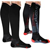 NV Compression 365 Cushion Socks – Black – Compression Sports Socks – for Running, Cycling, Triathlon, Gym