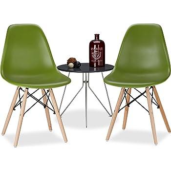 Relaxdays Chaise Salle à Manger Design Retro Arvid Lot De 2 Moderne