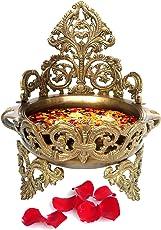 Metaldecor Brass Floating Flower Pot (23x20x26cm, Multicolour)