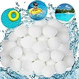Balle filtrante piscine,Balles Filtrantes,Boules de Filtre de Piscine, 1000g remplacent 36kg de Sable filtrant,Convient aux g