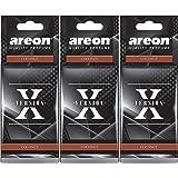AREON X Auto geur kokosnoot luchtverfrisser auto geur zwart hanger spiegel kokos cocos karton 2D (kokosset pak x 3)
