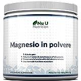 Magnesio In Polvere - Magnesio Carbonato E Acido Citrico In Polvere 450g, 90 Porzioni, Scorta Per 3 Mesi - Altamente Solubile