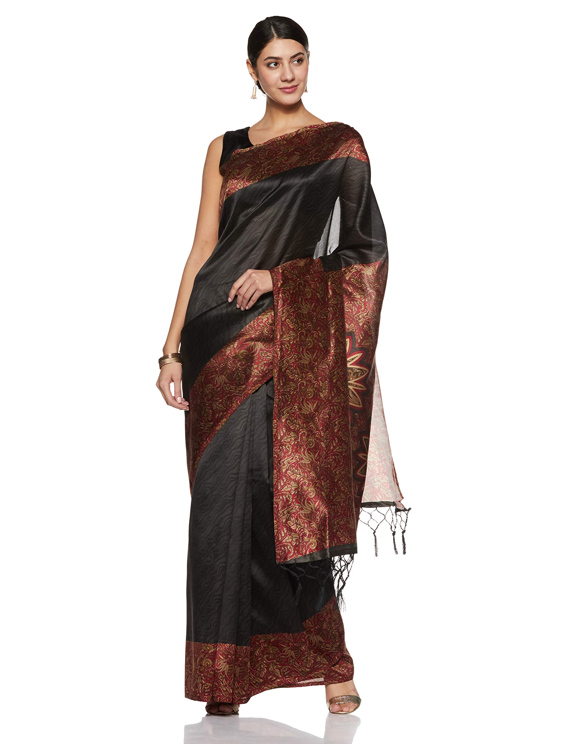 37438a0c8 Indira Designer Women s Art Mysore Silk Saree With Blouse Piece (Star-Red)