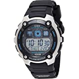 Casio Mens Quartz Watch, Digital Display and Resin Strap