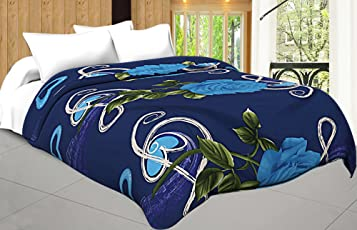 Craft Trade Micro Cotton Soft and Light Weight Designer Printed Double Bed Reversivle Dohar/Ac Comforter for Home