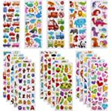3D Stickers voor Peuters Gezwollen Kinder Stickers 24 Verschillende Vellen Meer Dan 550 Stickers Kleurrijke 3D Stickers voor