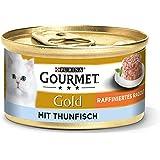 Purina Gourmet 12296239 Mokra Karma z Tuńczykiem dla Kotów, 12 x 85 g