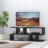 Klaxon Z Shape Engineered Wood TV Unit/Display Storage Cabinet Rack with Decor Shelf (Brown)