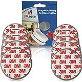 10x PLAVA Magnethalterung für Rauchmelder- Starke 3M Klebepads – Selbstklebend ohne Bohren – Rauchmelder Magnethalter – 10er Set Magnetbefestigung für Rauchmelder – 10 Brandmelder Magnetbefestigung