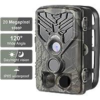 DIGITNOW Fotocamera da Caccia 20MP 1080P HD Impermeabile, 120°Ampia visuale Fototrappola Infrarossi Invisibili 44 IR LED, Macchine fotografiche da caccia Visione Notturna fino a 25m