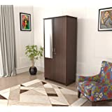Bluewud Andrie Double Doors Wardrobe with Drawer (2 Doors - with Mirror)