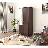 Bluewud Andrie Double Door Wardrobe (Wenge) (2 Doors - with Mirror)
