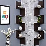 Furniture Cafe Set of Two Zigzag Corner Wall Mount Shelf Unit/Racks and Shelves/Wall Shelf/Book Shelf/Wall Decoration…
