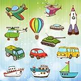 Auto e macchine da colorare per bambini e ragazzi : camion , aerei , barche e ruspe