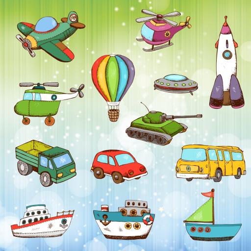 vhicules-et-voitures-coloriage-pour-les-tout-petits-et-les-enfants-camions-avion-bateaux-et-pelleteu