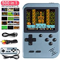 Handheld Game Console, Dhaose Retro Mini Game Player with 500 Classical Games 3.0-Inch Color Screen Support for Connecting TV and Two players 1020mAh Rechargeable Battery Present for Kids and Adult