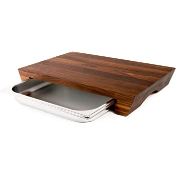 Cleenbo Schneidebrett Walnuss Style Profi Holz Küchenbrett Aus