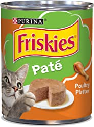 Purina Friskies Pate Poultry Platter Wet Cat Food Can 368g (12 Cans)