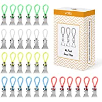Hanging Kitchen Clips Kitchen Towel Clips with Towel Loops, Clips for Cloths such as Tea Towels and Flannels (30 Pack)