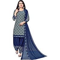 Rajnandini Women's Cotton Unstitched Salwar Suit (JOPL4028_Grey_Free Size)