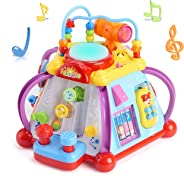 Popsugar Multipurpose Activity Toy Play Center for Kids, Multicolor