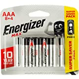 Energizer Max Long Lasting High Performance Batteries AAA, Pack of 12