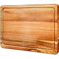 SKY LIGHT Tagliere in Legno di Acacia Organico per Cucina  38   25   2 5 cm   Confezione Regalo  impugnature Senza BPA   Medio