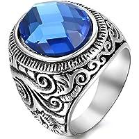 Oidea Anello Uomo acciaio inossidabile Fidanzamento Promessa Matrimonio argento,misura da scelta