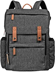 Hap Tim Diaper Bag Backpack Muilti-Function Waterproof Large Capacity Travel Diaper Backpack for Baby Care with Stroller Straps,Insulated Pockets(K1004AE-DG)