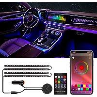 Anykuu Led Auto Interni Striscia LED Auto Impermeabile 72 LED DIY Colori Aggiornato 3-in-1 Design Controllo APP Interior…