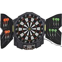 HOMCOM Elektronische Dartscheibe Dartboard mit Tür inkl. 4 LED 216 Spiele 12 Pfeile bis 8 Spieler ABS + PP 49 x 54,6 x 5…