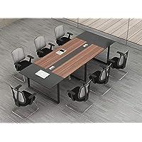 280 cm serie Hammerbacher KT Tavolo da conferenza effetto legno Noce FineBuy con struttura cromata