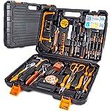 102-delige gereedschapskoffer, premium universele gereedschapskist, huishoudgereedschapsset met een groot aantal gereedschapp