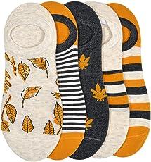 VINENZIA 5 Pair cotton designer no show, loafer women's socks