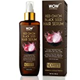 WOW Skin Science Red Onion Black Seed Hair Serum - with Red Onion Seed Oil Extract, Watercress - NON STICKY - for Frizz…