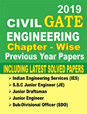GATE 2019 : Civil Engineering 30 Year Chapter-Wise Solved Papers & Study Materia
