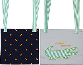 Kadambaby - Set of 2 Hanging Storage Organizer for Diapers, Toys, Books - Can be used on Nursery , Strollers, Baby cribs, Baby cots, Bunk Beds/ Pockets Hanging Bedside Storage/ Bed Pockets - CROC