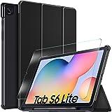 IVSO Protector de Pantalla con Funda para Samsung Galaxy Tab S6 Lite, Slim PU Protectora Carcasa Cover para Samsung Galaxy Ta