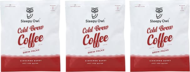 Sleepy Owl Coffee Brew Packs - Cinnamon Burst (Pack of 3)