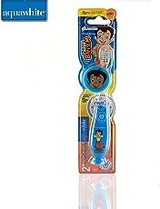 aquawhite Chhota Bheem Kids Timer Flash Light Toothbrush with Hygiene Cap Blue (Waterproof & Inbuilt Battery),Health & Personal Care