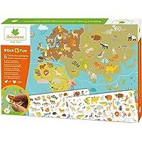 Sycomore-CRE7033 Mosaïques Autocollantes 5 Maxi Tableaux Mousse repositionable-Stick & Fun-Loisir créatif Enfant-Dès 3…