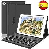 SENGBIRCH Funda con Teclado para iPad Mini 5 2019 Funda Ultrafino con Teclado Bluetooth Inalámbrico Español Compatible con 7.