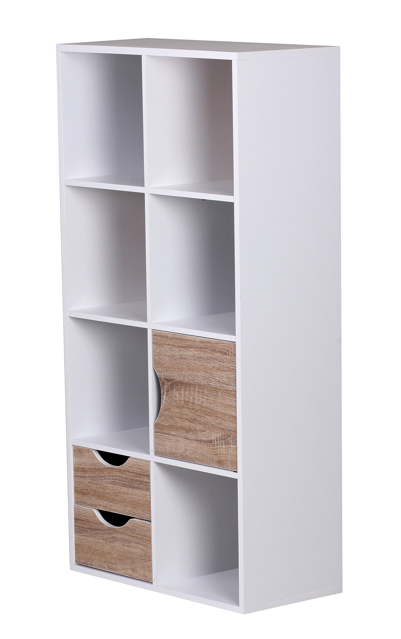 1plus biblioth que avec tiroirs et porte large blanc de sonoma inspid co. Black Bedroom Furniture Sets. Home Design Ideas