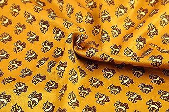 Gleamberry Mashru Printed Garment Fabric Cotton Silk Hand Block, 2.5mm