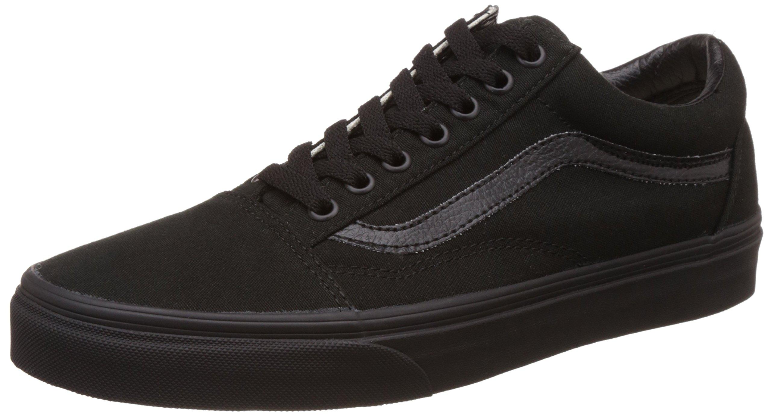 80a6ced1de Vans Unisex Old Skool Black Leather Sneakers – 8 UK India (42 EU ...