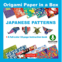 Origami Paper in a Box - Japanese Patterns: Origami Book with Downloadable Patterns for 10 Different Origami Papers…