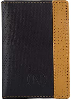Men Black Artificial Leather Card Holder 16 Slot